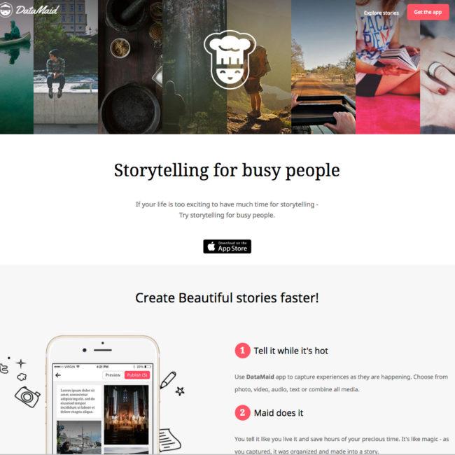DataMaid / Instant storytelling tool